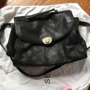SEE BY CHLOE Black Satchel Messenger Bag
